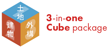 3-in-one cube package